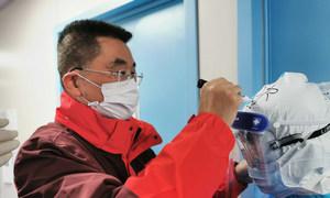 Lu Xiang, Deputy Director of Jiangsu Medical Mission to Huangshi, Hubei during the COVID-19.