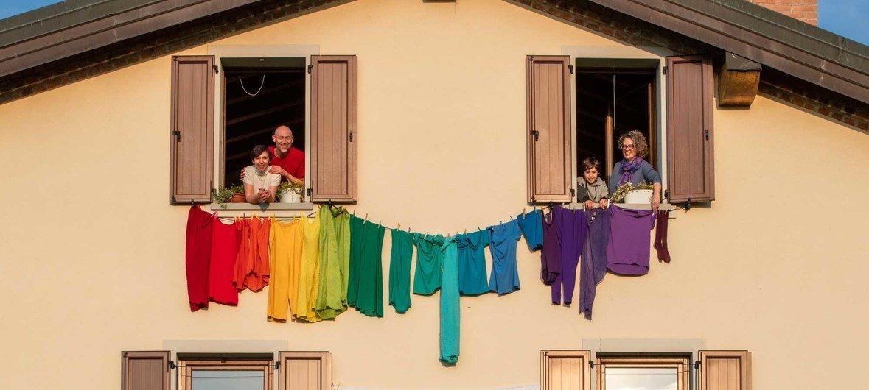 Los italianos en cuarentena muestran su solidaridad.