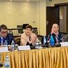 Представитель ВОЗ в Казахстане Кэролайн Кларинваль (вторая слева) рассказала о подготовке к борьбе с коронавирусом в стране (фото из архива)