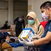 由儿基会提供的一批医疗设备运抵印度尼西亚。
