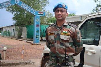 दक्षिण सूडान के यूएन मिशन में सेवारत भारतीय शान्तिरक्षक कैप्टन दीपक परिहार.