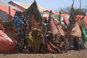 عائلات نازحة في الصومال.