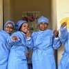 Nurses celebrate the end of the Ebola epidemic in eastern Democratic Republic of the Congo, where over 200 staff worked tirelessly to protect children from the disease.