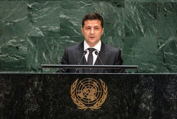 乌克兰总统泽连斯基出席联合国大会第74届会议一般性辩论。