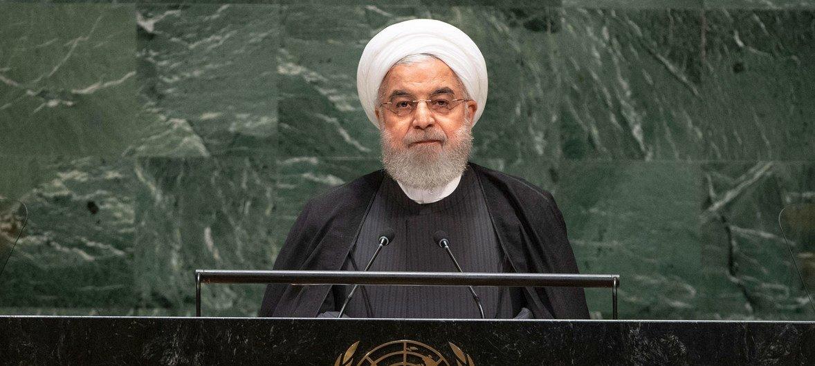 Hassan Rouhani, presidente de Irán, se dirige a la Asamblea General de la ONU.