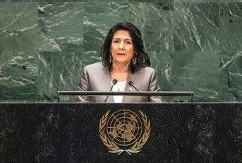 Президент Грузии Саломе Зурабишвили на 74-й сессии Генеральной Ассамблеи ООН.