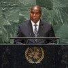 Faustin Archange Touadera, Président de la République centrafricaine, prend la parole lors de la 74ème session du débat général de l'Assemblée générale des Nations Unies. (25 septembre 2019)