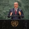 Iván Duque Márquez, President of the Republic of Colombia, addresses the 74th session of the United Nations General Assembly's General Debate. (25 September 2019)