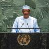 चाड के दिवंगत राष्ट्रपति इदरीस डेबी यूएन महासभा के 74वें सत्र को सम्बोधित करते हुए.