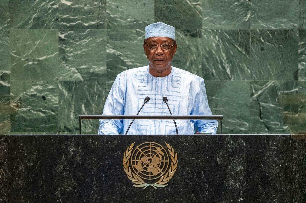 乍得总统代比在第74届联合国大会一般性辩论上讲话。