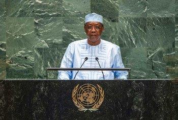 Idriss Déby Itno, Rais wa Chad akihutubia mjadaa mkuu wa mkutano wa 74 wa Baraza Kuu la Umoja wa Mataifa jijini New York, Marekani tarehe 25 mwezi Septemba mwaka 2019