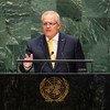 澳大利亚总理莫里森在联大第74届会议一般性辩论发言。