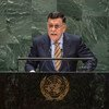 Faiez Mustafa Serraj, President of the Presidency Council of the Government of National Accord of the State of Libya, addresses the 74th session of the United Nations General Assembly's General Debate. (25 September 2019)