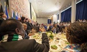 Mlo wa faragha wa mchana ulioandaliwa na Katibu Mkuu wa UN Antonio Guterres kwa ajili ya viongozi wa ujumbe wa nchi wanachama kwenye mjadala mkuu wa UNGA74