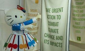 Kikaragosi cha kijapani, Hello Kitty kilipotembelea ukanda wa SDGs wakati wa mkutano wa 74 wa Baraza Kuu la UN