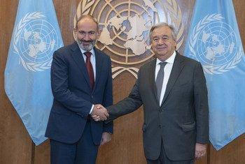 Президент Армении Никол Пашинян встретился с Генеральным секретарем Антониу Гутерришем и выступил с трибуны Генеральной Ассамблеи.