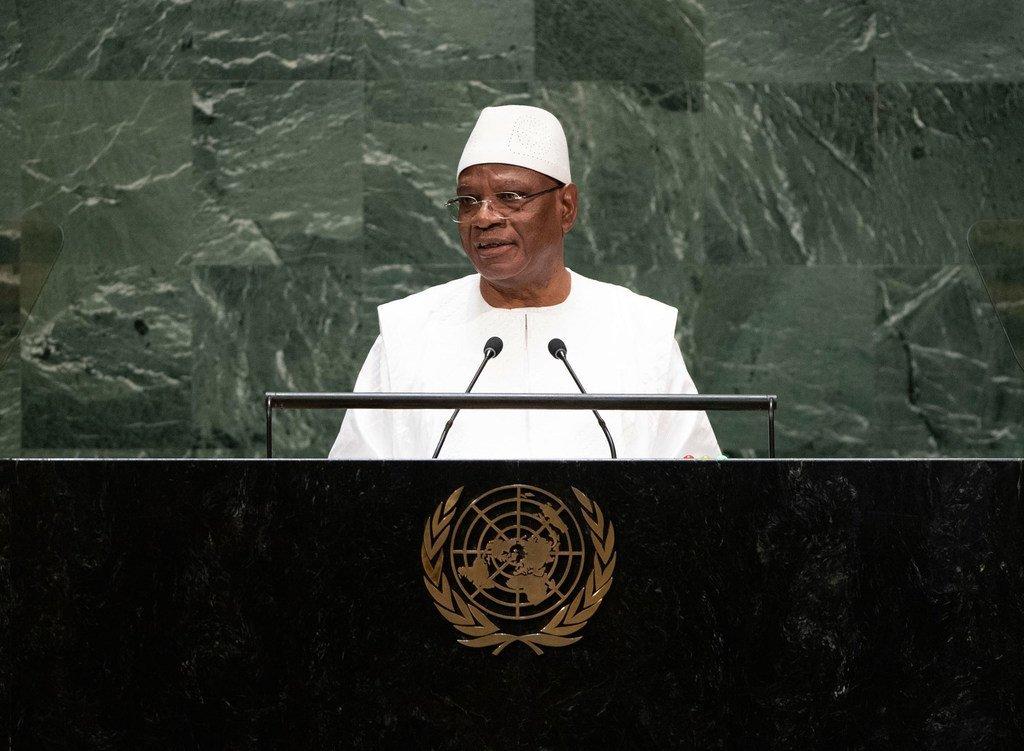 Ibrahim Boubacar Keïta, Président de la République du Mali, s'exprime lors du débat général de la 74ème session de l'Assemblée générale.