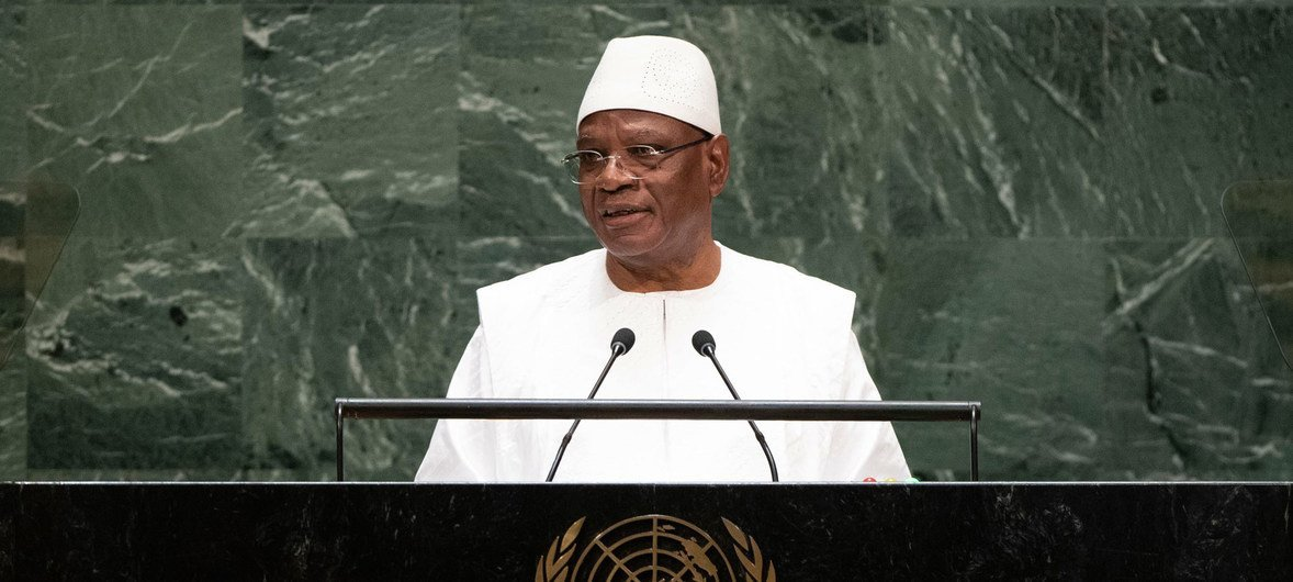 Ibrahim Boubacar Keita, President of the Republic of Mali, addresses the general debate of the 74th session General Assembly (file photo).