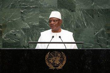 Ibrahim Boubacar Keita discursando na Semana de Alto Nível da Assembleia Geral em 2019