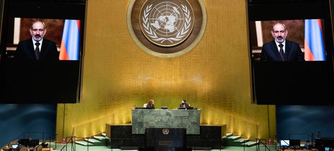 Премьер-министр Армении Никол Пашинян обратился к Генеральной Ассамблее ООН