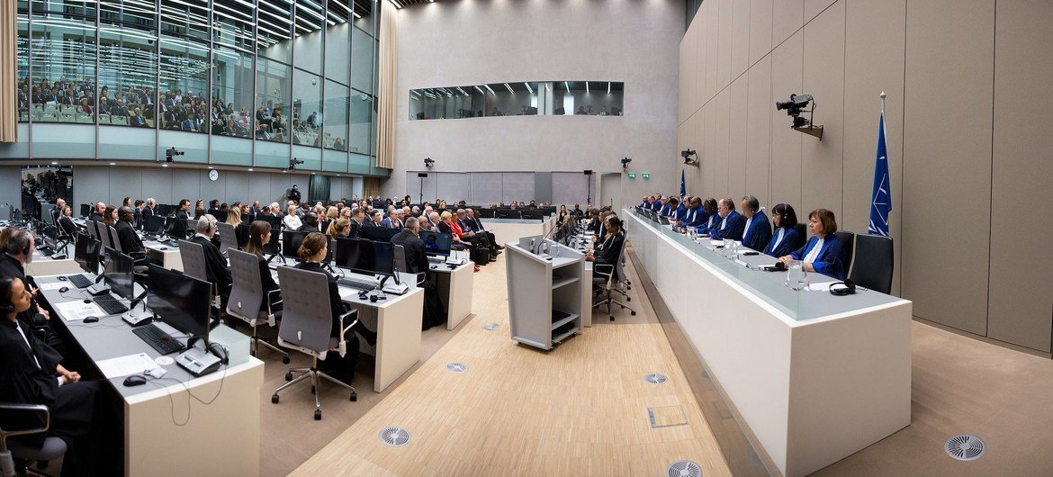 The International Criminal Court marks the opening of its judicial year in January 2020 at the seat of the Court in The Hague, Netherlands.