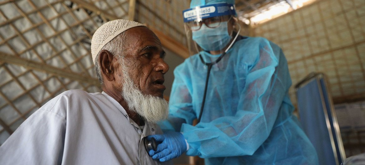 The UN's International Organization for Migration (IOM) is supporting medical care for Rohingya refugees in Bangladesh.