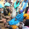 UN peacekeepers from Pakistan engage the local population in North Darfur, Sudan.