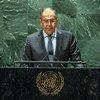 俄罗斯联邦外交部长谢尔盖·拉夫罗夫在联合国大会第七十六届会议一般性辩论上发言。