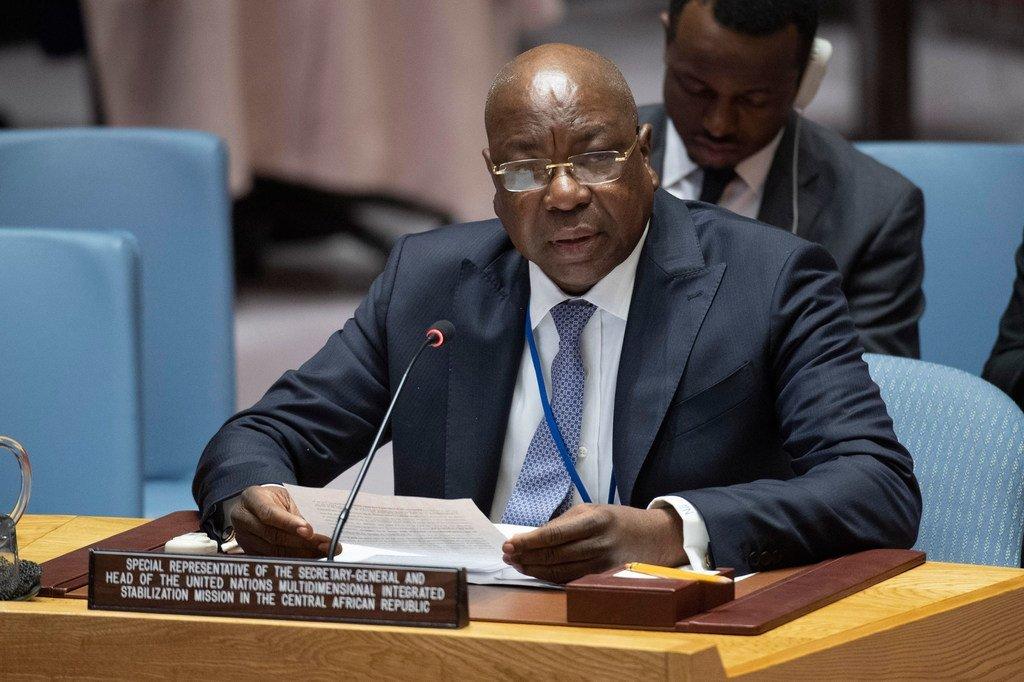 秘书长中非共和国特别代表兼中非稳定团团长恩迪亚耶向联合国安理会汇报该国局势最新进展。