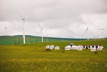 A wind farm in the People's Republic of China.