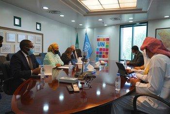 Первый заместитель Генерального секретаря ООН встречается с членами Исламского банка развития в Саудовской Аравии