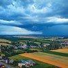 Vista panorámica de una tormenta en Plechotice, Eslovaquia.