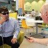 Mike Hess, fundador del Instituto de Tecnología para Ciegos de Estados Unidos.