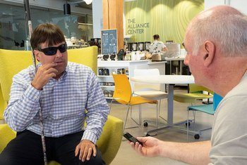 Mike Hess, the founder of the US-based Blind Institute for Technology, is interviewed by Kevin Cassidy, the Director of the ILO Office for the United States.