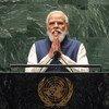 印度总理莫迪在联合国大会第76届会议一般性辩论上讲话。