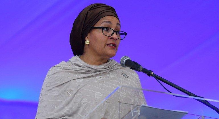 نائبة الأمين العام للأمم المتحدة، أمينة محمد. (صورة من الأرشيف)