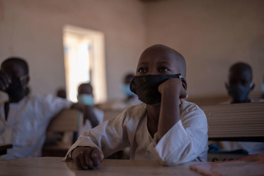 Des élèves dans une école primaire, dans l'Etat de Yobe, au Nigéria.