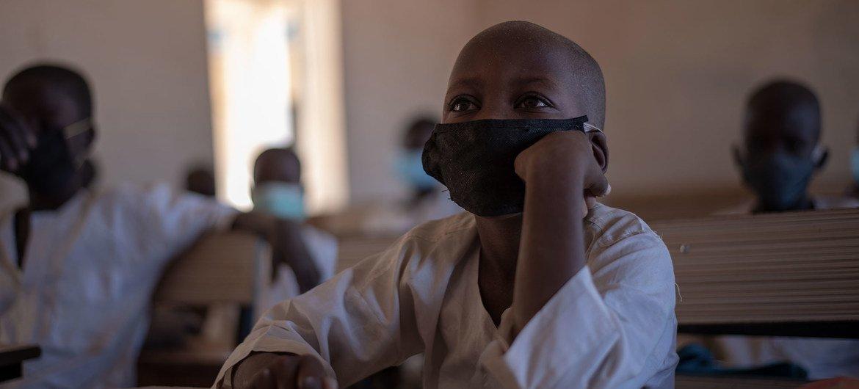 طلاب في مدرسة ابتدائية بولاية يوب بنيجيريا.
