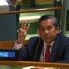 यूएन में म्याँमार के स्थाई प्रतिनिधि, राजदूत चॉ मो तुन ने महासभा को अपने सम्बोधन का अन्त 1 फ़रवरी को हुए तख़्ता पलट की निन्दा करते हुए किया.