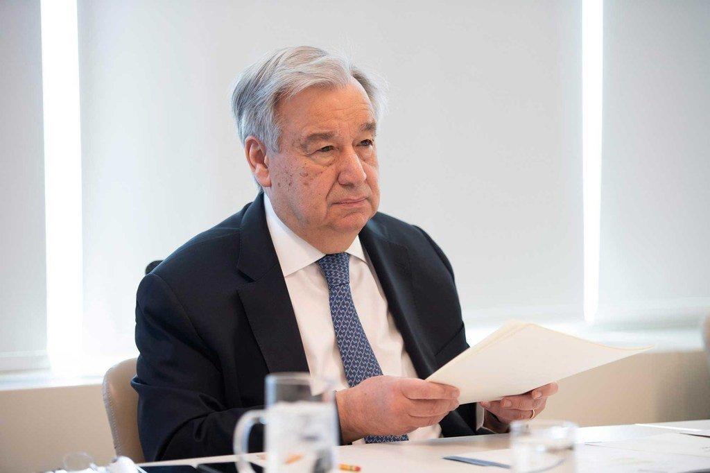 Photo ONU/Evan Schneider Le Secrétaire général de l'ONU, António Guterres