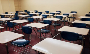 An empty classroom at a school. (File photo)