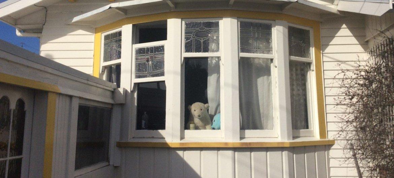 自从2019冠状病毒疫情蔓延而实施隔离禁闭以来,新西兰惠灵顿的许多人在他们的窗户处放置一只泰迪熊,这样孩子们出去散步的时候就可以享受寻找泰迪熊的乐趣。