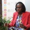Clara Makenya, Mwakilishi wa UNEP nchini Tanzania akihojiwa na UNIC Dar es salaam.