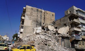 Le conflit en Syrie a causé d'importantes dégâts à Alep, en Syrie.