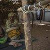 Scènes de la vie quotidienne dans un village de personnes déplacées dans la région de Mopti, dans le centre du Mali.