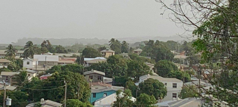Una nube de polvo del Sahara oscurece los cielos del Caribe en 2020.
