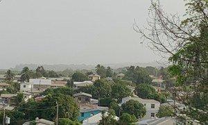 Пылевая буря из африканской Сахары накрыла большую часть островов Карибского бассейна.