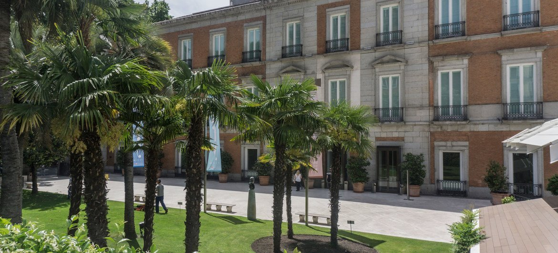Museum Thyssen-Bornemisza, part of the Paseo del Prado and Buen Retiro, Spain.