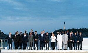 Le Sommet du G7 à Biarritz, en France.