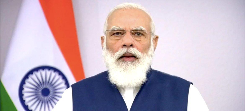 نارندرا مودي رئيس وزراء الهند يلقي كلمة موجهة للمناقشة العامة للدورة الخامسة والسبعين للجمعية العامة للأمم المتحدة